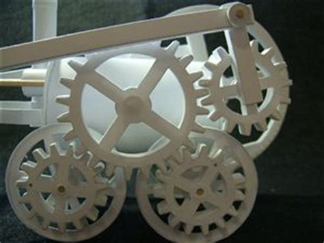 How To Make Paper Gears - the automata trevithick locomotive model with paper