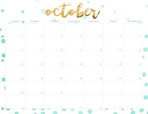 october 2017 calendar cute | 2018 calendar with holidays