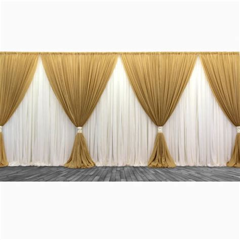 event curtains premium two tone 3 panel backdrop height 6 10ft