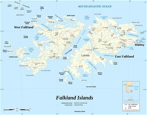 falkland islands on map maps of falkland islands malvinas map library maps