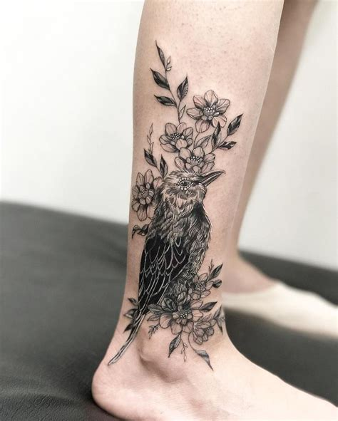 bird and roses tattoo 1000 ideas about flower leg tattoos on leg