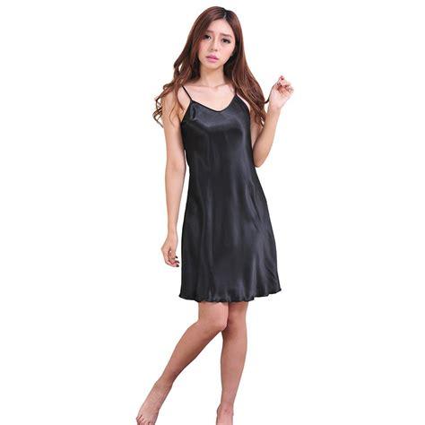 Dress Sleepwear Satin satin silk robe dress sleepwear nightdress