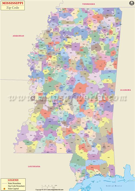 jackson ms map buy mississippi zip code map