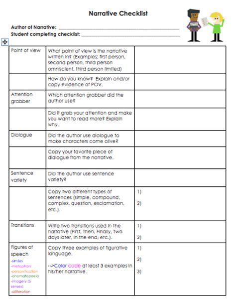 peer editing checklist for high school students