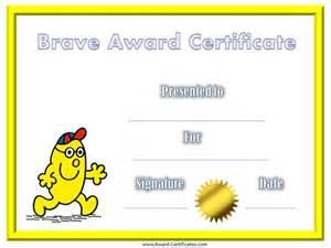 free printable bravery certificates for kids