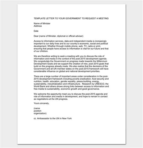 appointment letter format for government meeting appointment letter 9 templates for word pdf format
