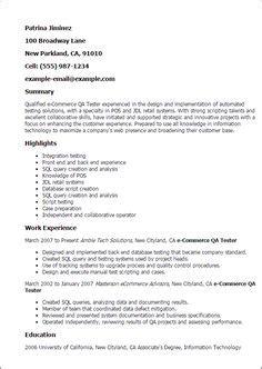 sensational entry level qa resume sle templates for cvs cv templates sle resume template and cv template