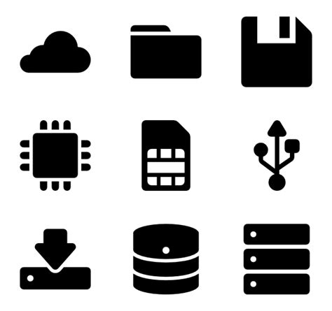 104 storage icon packs - Vector icon packs - SVG, PSD, PNG ...