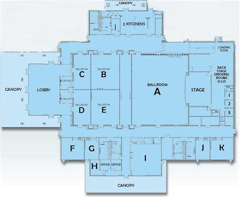 civic center floor plan holthus convention center features amenities floor