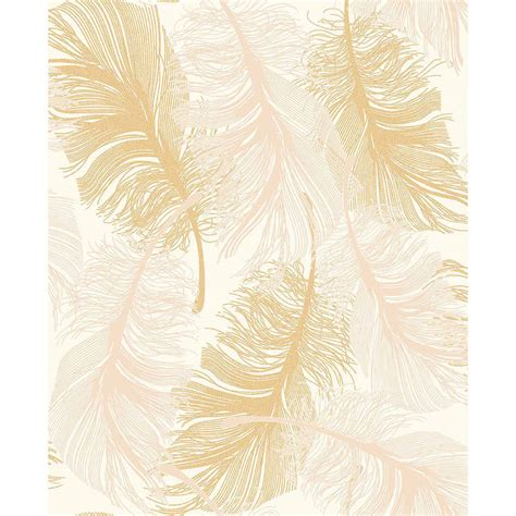 gold wallpaper b and m b m gt gold feather motif wallpaper 302870