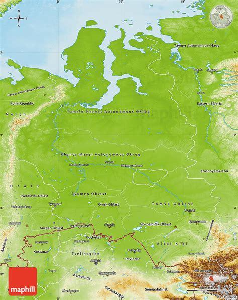 russia maps siberia maps physical map of western siberia