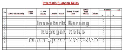format buku inventaris barang sekolah contoh format tabel untuk pendataan inventaris barang