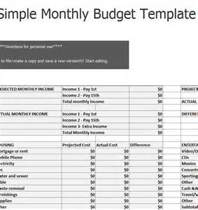 simple monthly budget sheet 187 template haven