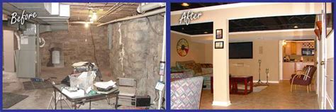 basement renovation before and after kansas city basement finishing and remodeling basement