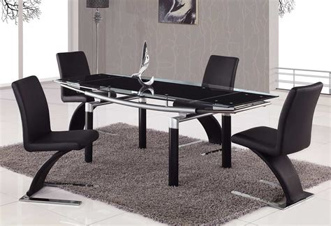 stylish table modern black dining table