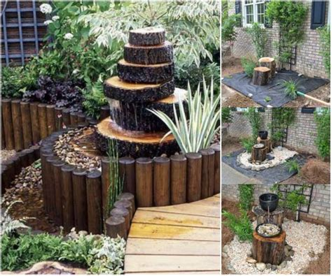 diy garden decor ideas fab diy log home garden decor ideas www fabartdiy