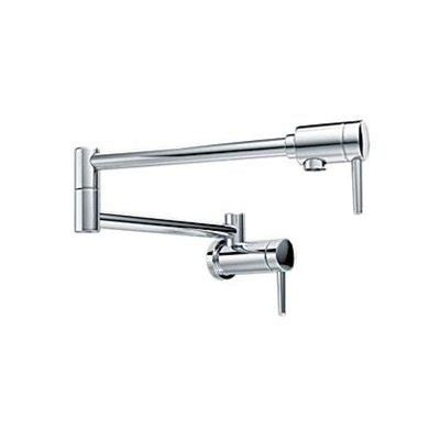 delta wall mount kitchen faucet delta 1165lf 2 handle pot filler wall mount traditional kitchen faucet lowe s canada