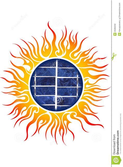 sun solar logo sun logo with solar panels stock photography image 25392232