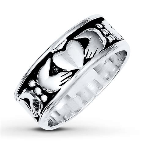 s claddagh ring sterling silver 8mm