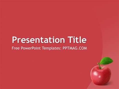 free apple fruit powerpoint template pptmag