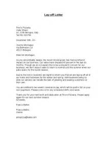 layoff letter template layoff letter sle sle business letter