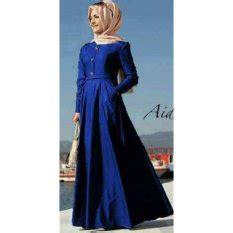 Aida Maxi Biru jual dress muslimah terbaru termurah lazada co id