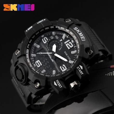 Jam Tangan Digital Analog 6016 White skmei jam tangan analog digital pria ad1155 black