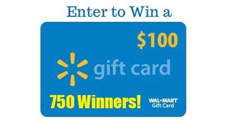 Walmart Gift Card Maximum Amount - coupons and freebies walmart 100 gift card giveaway 750 winners 6 grand prize
