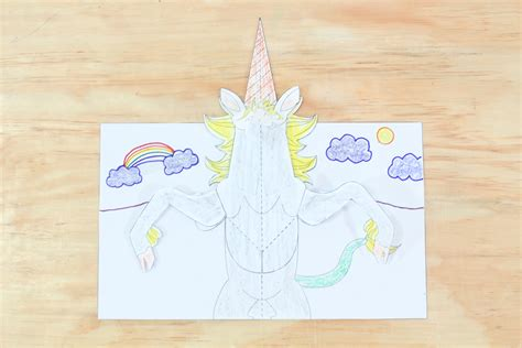 unicorn pop up card template how to make a unicorn pop up card robert sabuda method