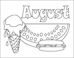 august coloring pages printable calendar picture months coloring pages