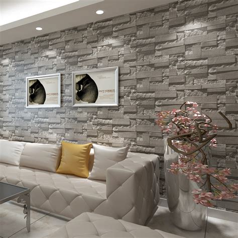 brick wallpaper grey living room wallpaper black picture more detailed picture about