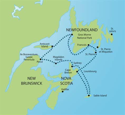east coast canada map east coast map canada