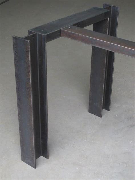i beam base w cross bar steel base for pub height