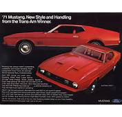 Ford Mustang Mach 1 Ad 1971 Ii Fastback