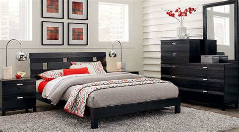 gardenia black  pc king platform bedroom king bedroom sets black