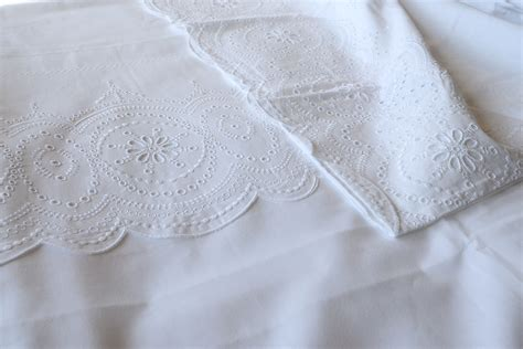 broderie anglaise bed linen white cotton bedding with broderie anglaise bed