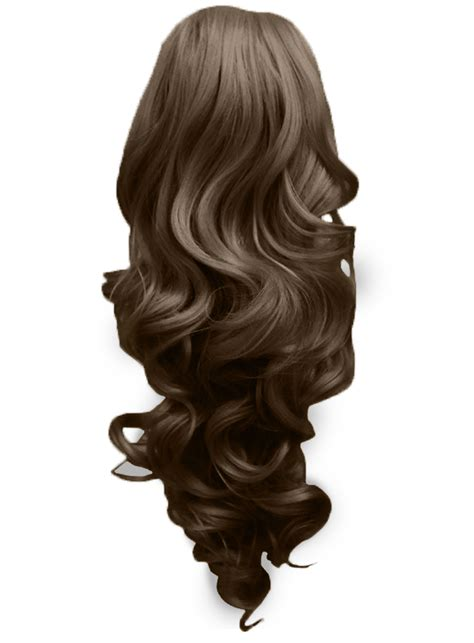 Hairclip Brown Light Brown ponytail clip in hair extensions light brown 12 reversible 4 styles claw clip ebay