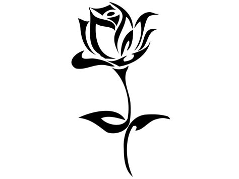 tribal black rose tattoo 40 black and white designs