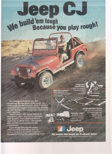 Jeep Magazines 1978 Jeep Cj Truck Magazine Advertisement