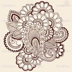 henna paisley pattern tattoo design for young girls