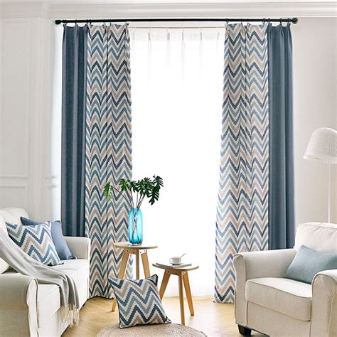 long bedroom curtains modern linen long chevron curtains for bedroom