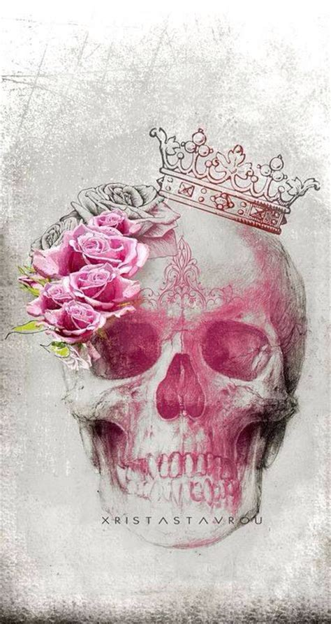wallpaper skull flower for sam roses tiara skull tattoo tattoo pinterest