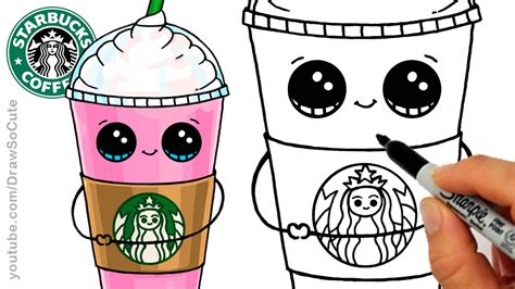 i sew cute and draw how to draw a starbucks frappuccino cute cartoon drink