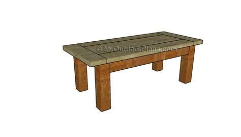 rustic outdoor table plans rustic coffee table plans myoutdoorplans free