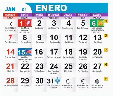 calendario mexicano con nombres de santos dise 241 o calendario 2018 con santoral y de bolsillo