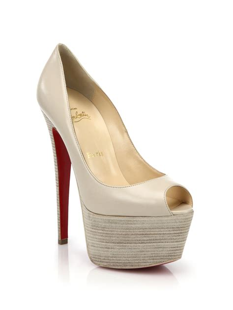 Christian Louboutin Platform Heels by Lyst Christian Louboutin Patent Leather Platform