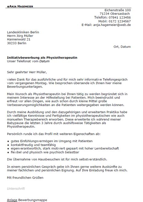 Bewerbung Anschreiben Muster Physiotherapeut Bewerbung Physiotherapeut In Berufseinsteiger Sofort