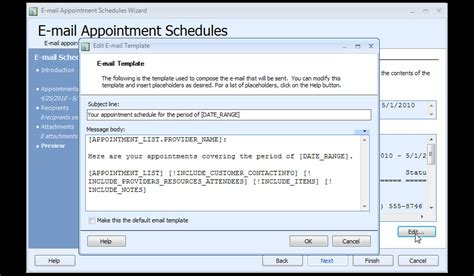 schedule email template search results for appointment schedule calendar template