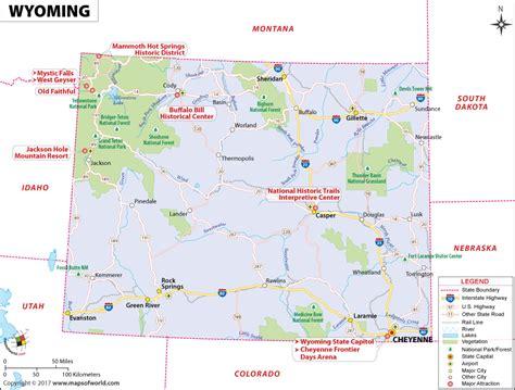 map of wyoming usa wyoming map map of wyoming wy