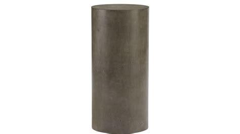 pedestal in column column small grey pedestal table cb2